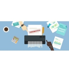 paper shredder confidential and private document vector image