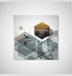 Abstract hexagon background technology vector