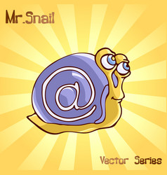 Mr snail with mail vector