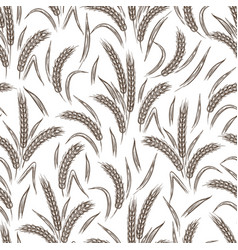 Ears of wheat seamless pattern vector