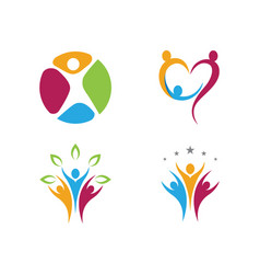 adoption and community care logo template i vector image
