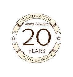 Realistic twenty years anniversary celebration vector