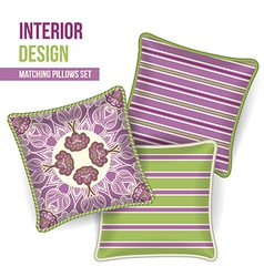 Set of decorative pillows vector