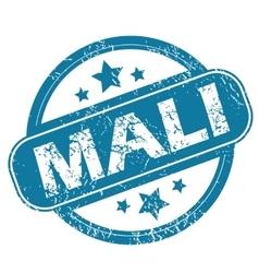 Mali round stamp vector