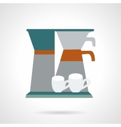Office coffee maker flat icon vector