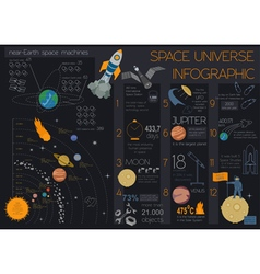 Space universe graphic design infographic template vector
