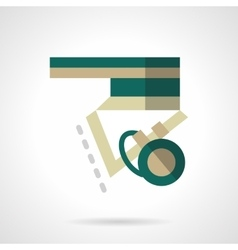 Longboard element flat color icon vector