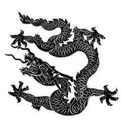 black dragon isolated vector image