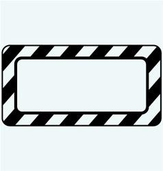 Blank frame vector image