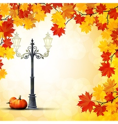 Autumn in the park background vector