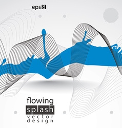 Modern inky wallpaper eps8 flowing lines ephemeral vector