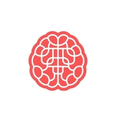 Brain maze icon isolated on white vector