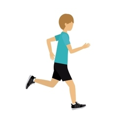 Male athlete practicing running isolated icon vector