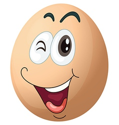 A smiling egg vector image vector image