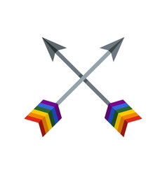 arrows lgbt icon flat style vector image vector image