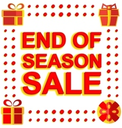 Big winter sale poster with END OF SEASON SALE vector image
