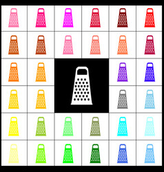 Cheese grater sign felt-pen 33 colorful vector