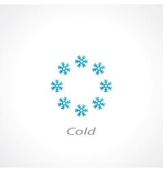 cold symbol vector image vector image