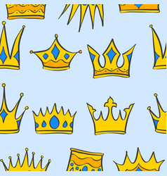 Collection stock crown pattern style vector