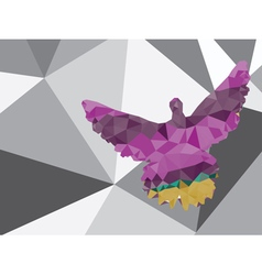 Colorful Polygonal Pigeon4 vector image