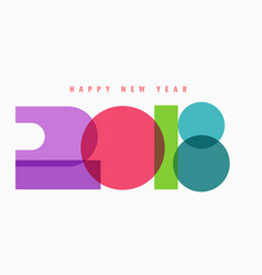 creative 2018 text colorful design vector image vector image