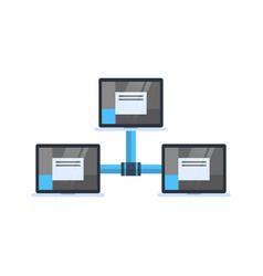 Data center access icon cloud computer connection vector