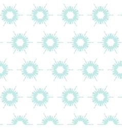 Floral snowflake pattern vector