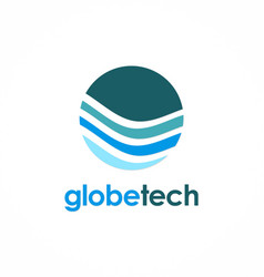 Globe technology logo vector
