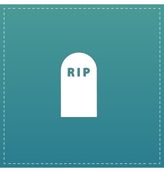 Grave flat icon vector