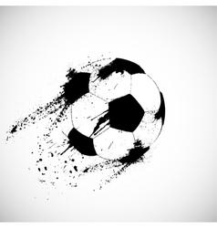 Grunge soccer ball vector