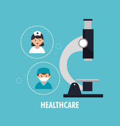 healthcare professional avatar character vector image vector image