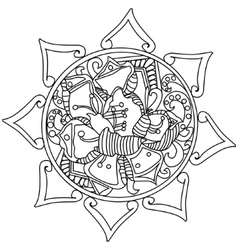 Mandala coloring for adults vector image vector image