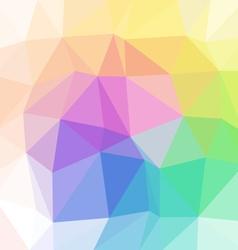 Pastel full color spectrum polygon triangular vector