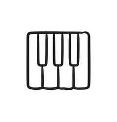 Piano keys sketch icon vector