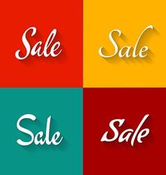 Sale text logo set Script elegant style fonts vector image
