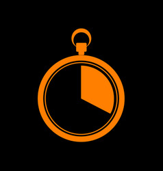 The 20 seconds minutes stopwatch sign orange vector