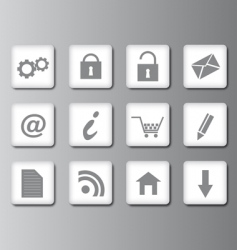 web 20 vector icons vector image