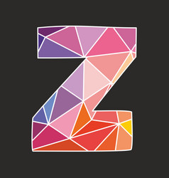 z alphabet letter isolated on black background vector image vector image