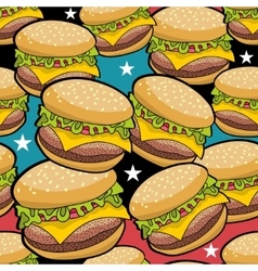 Endless pattern with fast food vector