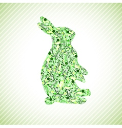 Green rabbit vector