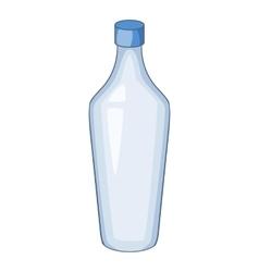 White bottle icon cartoon style vector