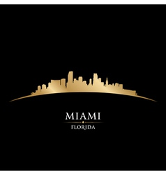 Miami Florida city skyline silhouette vector image
