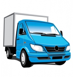 Delivery truck vector
