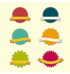 Badges ribbons vector