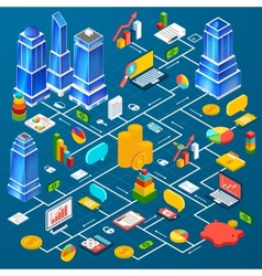 Office city infrastructure planning infographic vector
