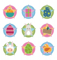 Easter badges vector image
