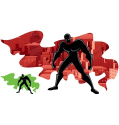 Superhero abstract 2 vector