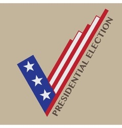 Usa presidential election design vector