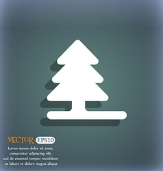 Christmas tree icon symbol on the blue-green vector