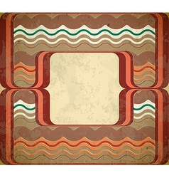 60s styled grungy frame vector image vector image